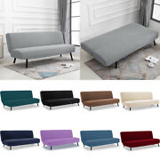 Jacquard Stretch Armless Sofa Cover Folding Couch Slipcover Furniture Protector