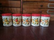 Vintage Mexican 5 Spice Tins Tin Metal Mexico From 50and039s