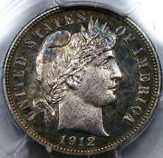 1912 Proof Barber Dime Pcgs Choice Pr-63... Awesome Pq Coin With Nice Toning