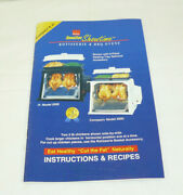 Ronco Smaller Showtime Rotisserie And Bbq Ovens Compact And Jr Instuctions And Recipes