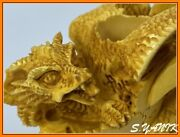 S.yanik Meerschaum Pipe Claw Clutching Egg Baby Dragon Large Fitted Case