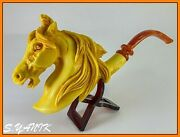 S.yanik Meerschaum Pipe Wild Horse Mustang Large Fitted Case Best Quality