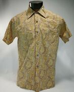 Vintage 60s Paisley Shirt Mod Groovy Surfer Hipster Liberty Of London Tana Lawn
