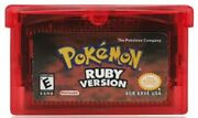 Original Authentic Pokemon Ruby Version Gameboy Advance Gba Game   New Battery