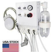 Portable Dental Turbine Unit With Weak Suction Work With Air Compressor Us Stock