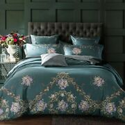 Chic Flower Embroidery Bedding Set Egypt Cotton Bohemia Bed Set Cover Bed Sheet