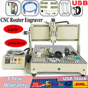 Usb 4axis Cnc6090 Router Engraver 3d Carving Milling Machine 2200w W/ Remote Usa