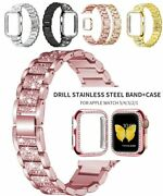 Strap Case Suitable For Apple Watch Band For Series 5-1 Stainless Steel Bracelet