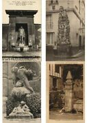 Water Fountains Fontaines Mostly Pre-1950 France 800 Vintage Postcard L3429