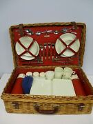 Vintage Abercrombie And Fitch Picnic Basket