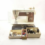 Singer Touch And Sew 758 Zig Zag Sewing Machine No Case With Manual