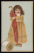 Victorian Trade Card 1880s J And P Coats Six Cord Thread For Sewing Vtc-c29