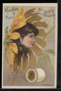 Victorian Trade Card 1880s J And P Coats Six Cord Thread For Sewing Vtc-c11
