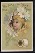 Victorian Trade Card 1880s J And P Coats Six Cord Thread For Sewing Vtc-c12