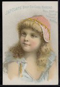 Victorian Trade Card 1880s J And P Coats Six Cord Thread For Sewing Vtc-c25
