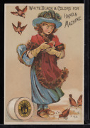 Victorian Trade Card 1880s J And P Coats Six Cord Thread For Sewing Vtc-c9
