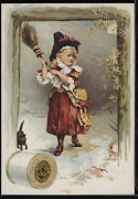 Victorian Trade Card 1880s J And P Coats Six Cord Spool Cotton Sewing Vtc-c54