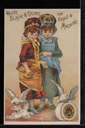 Victorian Trade Card 1880s J And P Coats Six Cord Thread For Sewing Vtc-c14