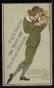 Victorian Trade Card 1880s J And P Coats Six Cord Spool Cotton Sewing Vtc-c50