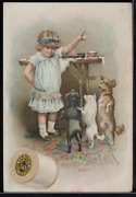 Victorian Trade Card 1880s J And P Coats Six Cord Spool Cotton Sewing Vtc-c51