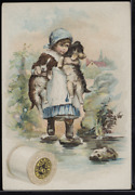 Victorian Trade Card 1880s J And P Coats Six Cord Thread Cotton Sewing Vtc-c57