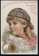 Victorian Trade Card 1880s J And P Coats Six Cord Thread For Sewing Vtc-c21