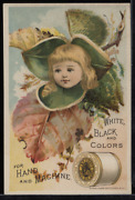 Victorian Trade Card 1880s J And P Coats Six Cord Thread For Sewing Vtc-c2