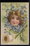 Victorian Trade Card 1880s J And P Coats Six Cord Thread For Sewing Vtc-c8