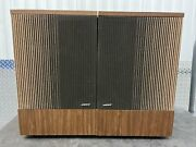 Vintage Pair Bose 501 Direct Reflecting Walnut Cabinet Speakers Left And Right