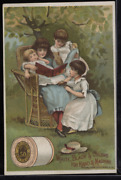 Victorian Trade Card 1880s J And P Coats Six Cord Thread Cotton Sewing Vtc-c89
