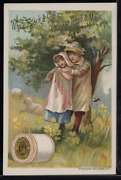 Victorian Trade Card 1880s J And P Coats Six Cord Thread Cotton Sewing Vtc-c90