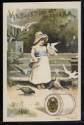 Victorian Trade Card 1880s J And P Coats Six Cord Thread Cotton Sewing Vtc-c88