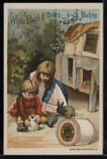 Victorian Trade Card 1880s J And P Coats Six Cord Thread Cotton Sewing Vtc-c93