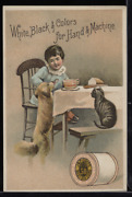 Victorian Trade Card 1880s J And P Coats Six Cord Thread Cotton Sewing Vtc-c85