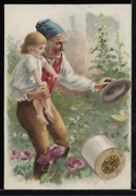 Victorian Trade Card 1880s J And P Coats Six Cord Thread Cotton Sewing Vtc-c79