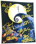 Nightmare Before Christmas Photo Cast Signed By Danny Elfman Tim Burton Auto's