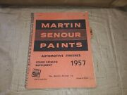 Martin Senour Paints 1957 Auto Color Chips Catalog Manual Ford Gm Dodge And More