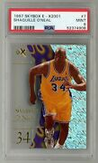 Shaquille Oand039neal 1997 Skybox E-x2001 7 Los Angeles Lakers Psa 9 Mint Shaq Pop 9