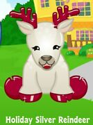 Webkinz Holiday Silver Reindeer/virtual Code Only/limited