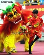 Cute Lion Dance Outfit Chinese Lion Dance Costume Wool Hand Made Stage