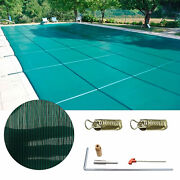 1 X Swimming Pool Cover With A Set Of Installation Accessories Tools 16x32 Ft Us