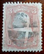 Buffalo Stamps Us Scott 85c Z-grill, Vf With Fancy Wedge Cancel, Cv = 4,500