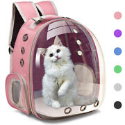 Deluxe Pet Carrier Cats Backpack Clear Hiking Travel Sightseeing Handbag