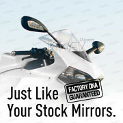 For Ducati 899 Panigale And 1199 Panigale Turn Signals Mirrors Black Set 14 13 12