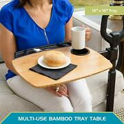 Able Life Able Tray Table Adjustable Bamboo Swivel Tv And Laptop Table With...