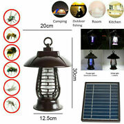 Solar Powered Outdoor Mosquito Fly Bugs Insect Zapper Killer Trap Lamp Light New