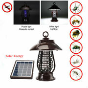6v Solar Energy Outdoor Mosquito Fly Bugs Insect Zapper Killer Trap Lamp Light