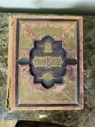 The Holy Bible 1886 Parallel-column Edition Rare Victorian Leather Hardcover