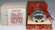 Wallace 1977 Silver Plated Sleigh Bell Ornament 7th Limited Edition Christmas