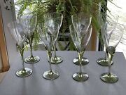 """Rosenthal Crystal, Papyrus , 8 1/4"""" White Wine Set Of 8 See Water Glasses Too"""